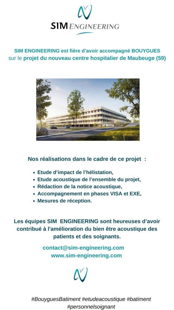 étude acoustique pour le centre hospitalier de Maubeuge