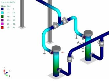 Étude de flexibilité de réseaux de tuyauteries