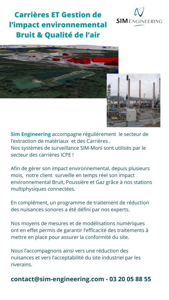 gestion de l'impact environnemental bruit et qualité de l'air dans les carrières