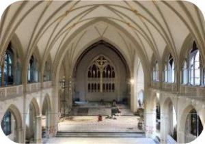 Diagnostic, préconisations de traitement de l'acoustique interne d'une Chapelle Universitaire par Sim Engineering